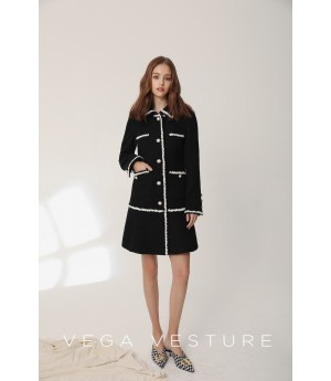 VEGA VESTURE Black and White Dress