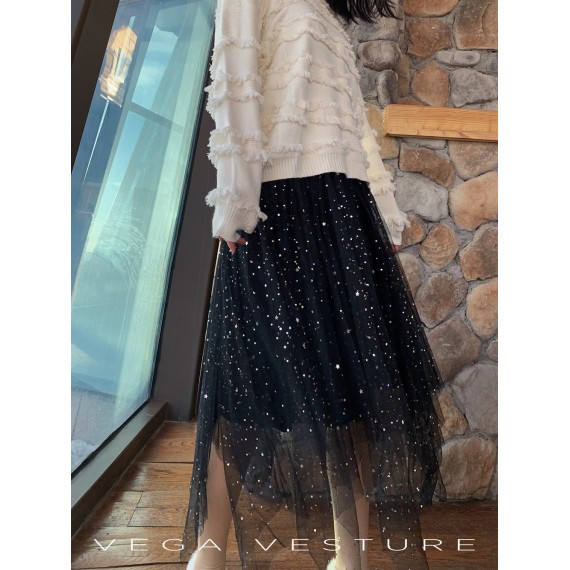 VEGA VESTURE Star Skirt-Black