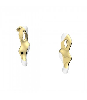 YVMIN Fish shadow Earrings-Gold & White