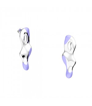 YVMIN Fish shadow Earrings-Silver&Mauve