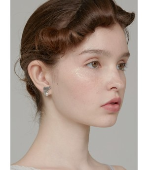 YVMIN Geometric Candy Ear Studs-Sliver