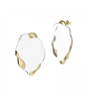 YVMIN Transparent liquid Earrings-Gold