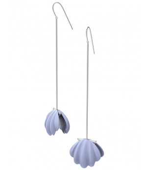 YVMIN Silver Purple Shell Earrings (Single)