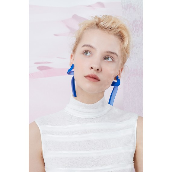 YVMIN Blue Surround Earring(One)