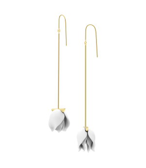 YVMIN Pure White Petals Earrings