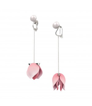 YVMIN Rouge Pink Pearl Petals Ear Clip
