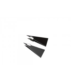 YVMIN Black Triangle And Square Earrings