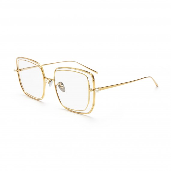 The Owner SunGlasses-Understanding 1-Gold Transparent