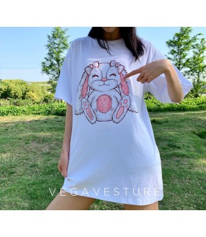 VEGA VESTUER Animal Pattern T-Shirt-Bunny