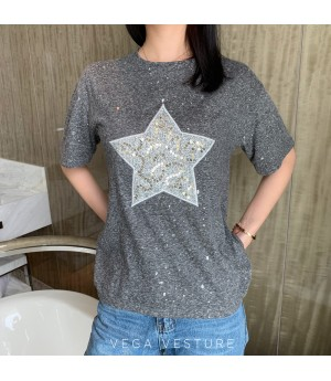 VEGA VESTUER Starshine T-Shirt-Grey