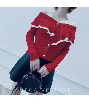 VEGA VESTUER Fungus Two Ways Of Wearing Top-Red