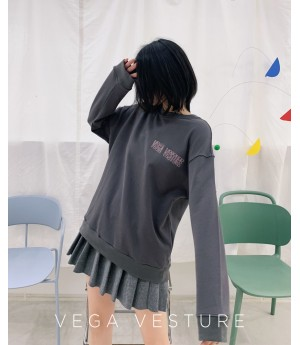 VEGA VESTUER Detachable Embroidery Lattice Hoodie-Grey