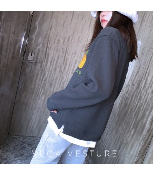 VEGA VESTUER Fruit Party Hoodie-Dark Grey