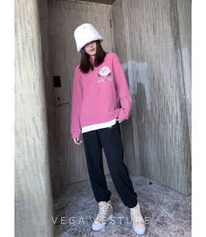 VEGA VESTUER Fruit Party Hoodie-Pink