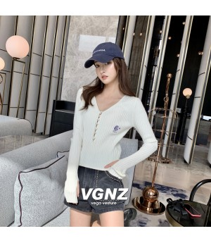 VEGA VESTUER Daisy Knit Top-White