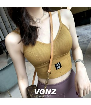 VEGA VESTUER Off-Back Elastic Force Sling-Yellow