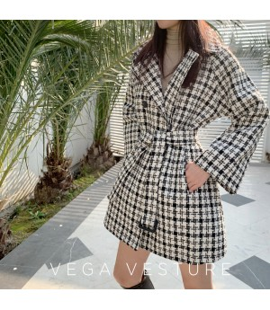 VEGA VESTUER Thousand Birds Lattice Lacing Coat