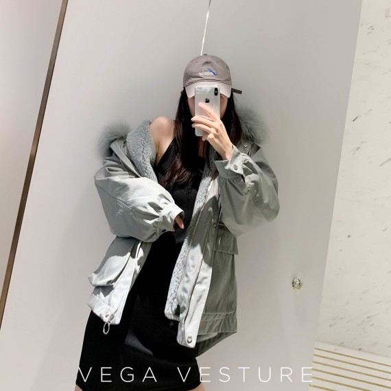 VEGA VESTUER Fox Fur Parka-Green