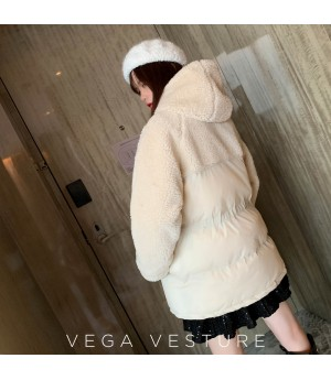 VEGA VESTUER Lambswool Splice Cotton Coat