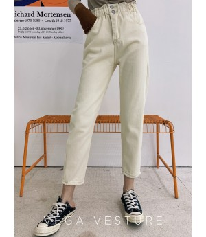 VEGA VESTUER Three Color Radish Pants-White