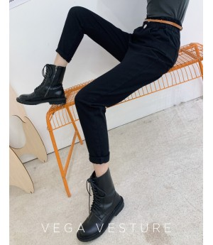 VEGA VESTUER Three Color Radish Pants-Black