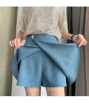 VEGA VESTURE Square Diamond Skirt-Blue