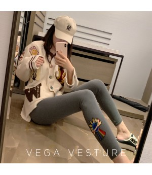 "VEGA VESTUER ""Alien Spaceship"" Pants Extra Velvet-Grey"