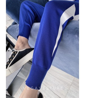 VEGA VESTUER Flash Knit Pants-Blue