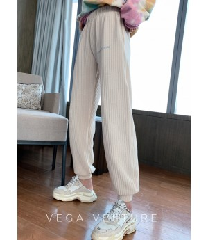 VEGA VESTUER Fluorescence Beam Port Leisure Pants-White