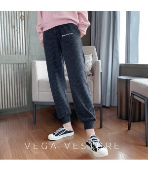 VEGA VESTUER Fluorescence Beam Port Leisure Pants-Grey