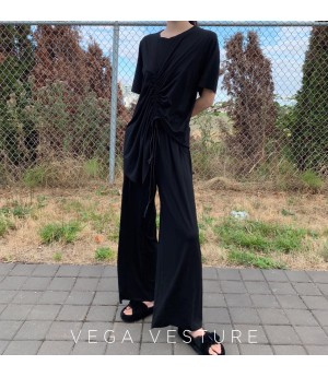 VEGA VESTUER Asymmetry Drawstring Set