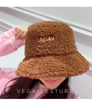VEGA VESTUER Lambswool Fisherman's Hat-Brown