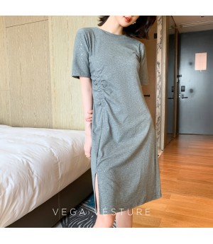 VEGA VESTUER Wrinkle Starry Sky Dress-Grey