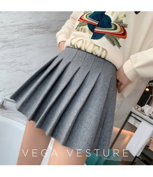 VEGA VESTUER Hairy Wrinkles Skirt-Grey