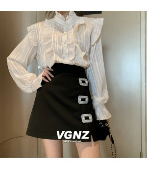 VEGA VESTUER Crystal Buckle Skirt