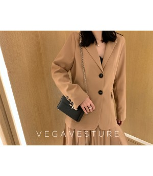 VEGA VESTUER Khaki Suit&Skirt Two-Set