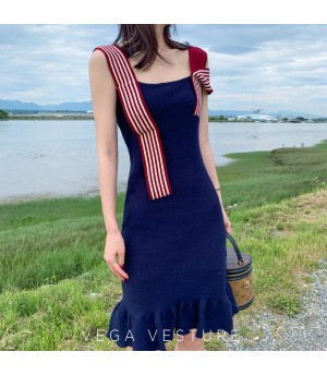VEGA VESTURE Knit Mermaid Dress