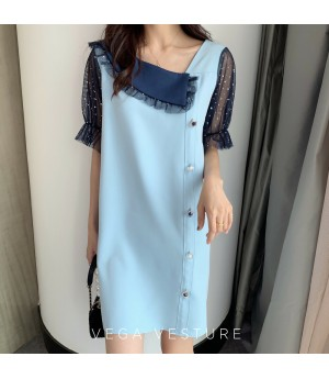 VEGA VESTURE Smart Blue Dress