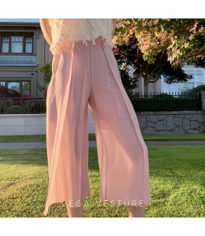VEGA VESTURE Split Skirt-Pants-Pink