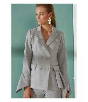 AlternaSenses Stitching Neckline Coat