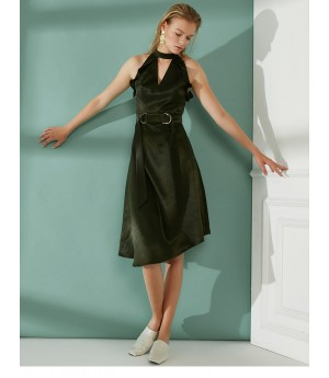 AlternaSenses Sleeveless Asymmetric Sweep Dress