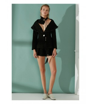 AlternaSenses Black Woolen Coat