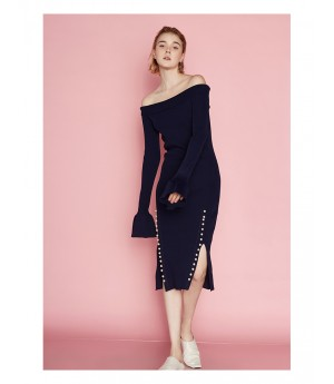 AlternaSenses Off-shoulder Knit dress