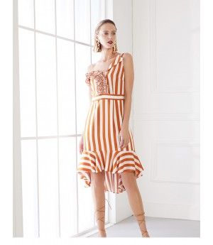 AlternaSenses Orange and White Dress