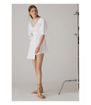 AlternaSenses V-Neck Asymmetric Dress