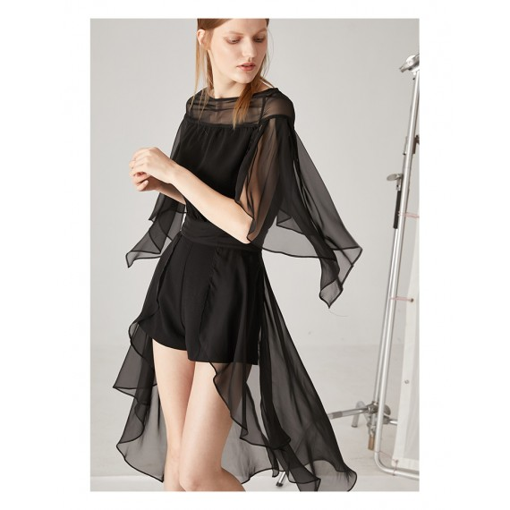 AlternaSenses Black Dress with Mesh