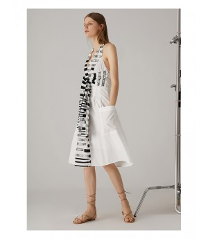 AlternaSenses Black and White Sleeveless Dress