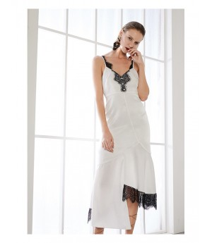AlternaSenses Strap Dress with Black Lace