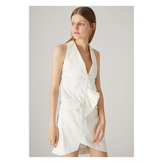 AlternaSenses White Sleeveless Dress