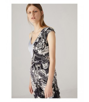 AlternaSenses Black and Blue Printed Jumpsuit